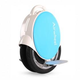 AirWheel Q5 14 Inch Twin Wheel Self-Balancing Electric Unicycle 170Wh LED Light Blue